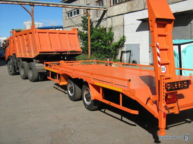 d3022f7971cd1 Продажа Низкорамный прицеп для перевозки строительной техники до 8 тонн