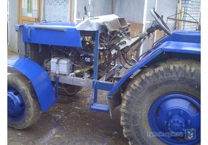 Самодельный трактор с двигателем от ваз